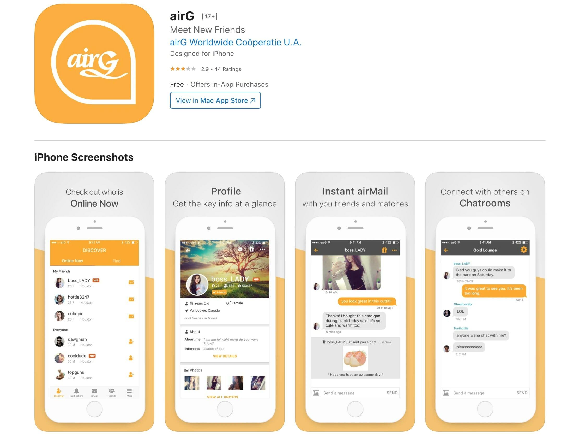 AirG app