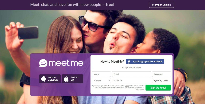 MeetMe main page
