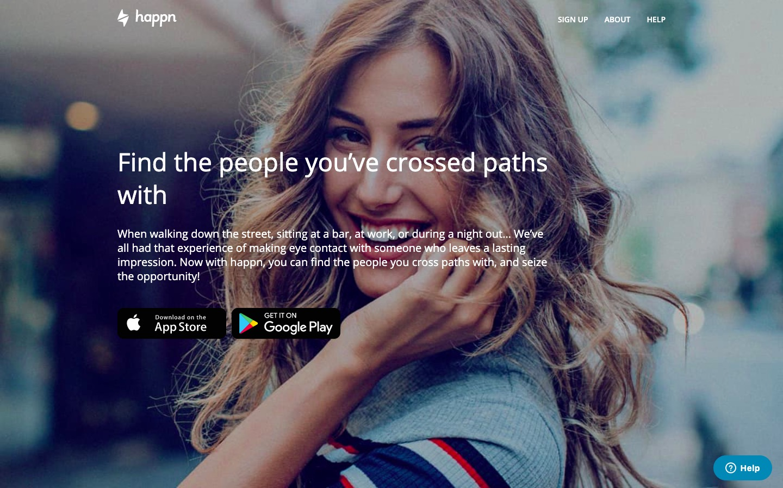 Happn.com main page